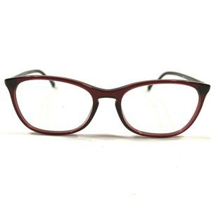 Chanel Womens Clear Red Circular Side Logo Frames